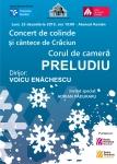 """Corul de cameră """"Preludiu"""" - concert de colinde și cântece de Crăciun"""