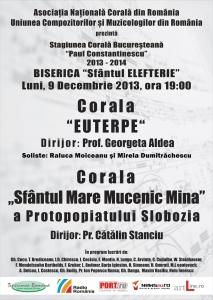 Al treilea concert din Stagiunea Corala Bucuresteana